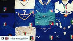 #Repost Forza Italy @milanclubphilly  The @azzurri section of my collection 2002 to 2016  #soccer #jersey #football #kit #italia #azzurri #forzaazzurri #vivoazzurro #italy #europeancup #euro2016 #worldcup #igers_philly #philadelphia #philly #tbt #collection