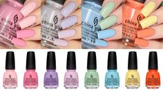 China Glaze Spring Pastels 2017 Collection LIVE Swatch & Review!