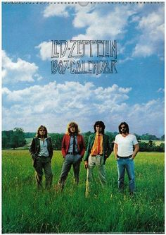 Original Led Zeppelin calendar from 1987. Approx 11 x 17 inches.