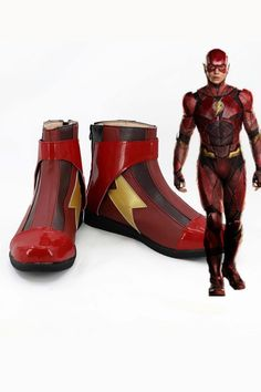 Custom Made the Jesse Quick Cosplay Shoes Red Boots Any Size PU For Unisex