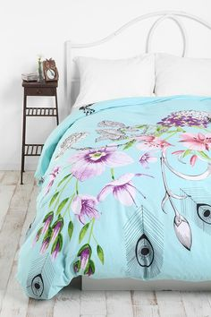 Peacock Duvet Cover - UO - it is so bright