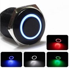 5V 12V 220V LED Locking 16mm Waterproof Metal Push Button Switch maintained metal switch Latching push button