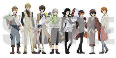 I hope all that flowers is for me XD expect you John ! btw the one Chuuya holding is freaking big Anime Manga, Anime Art, Edogawa Ranpo, Otaku Problems, Double Image, Bongou Stray Dogs, Dazai Osamu, D Gray Man, Dog Wedding