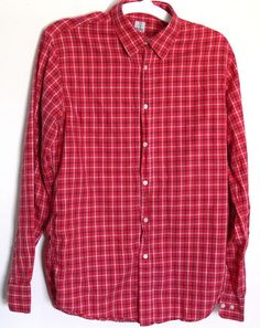 Alessandro Gherardeschi Plaid Shirt Medium Size M Long Sleeves Made In Italy #AlessandroGherardeschi #ButtonFront