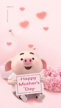 This Little Piggy, Little Pigs, Happy Day, Happy Mothers Day, Pig Wallpaper, Cute Piglets, Wonder Art, Pig Drawing, Mini Pigs