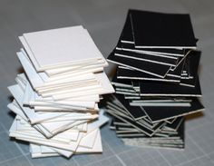Squared Away ... 50 Mini Squares . Crescent Matboard . Black . White . Mix Or…