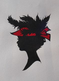 "Silhouettes - ""Vanessa"" - acrylic painting by Lorraine Skala - prints and notecards available at lorriskala@aol.com"