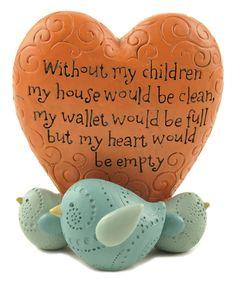 Blossom Bucket Without Children Heart Bird Sign | zulily