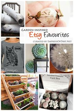Garden-Inspired Etsy Favourites curated by Empress of Dirt