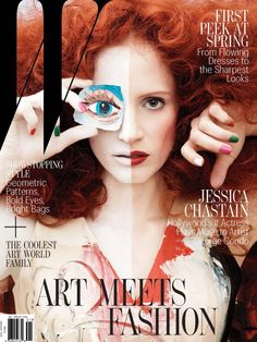 """News: Jessica Chastain's Arty Photo Shoot; Nicole Richie Is """"Not Good"""" At Makeup - Daily Makeover"""
