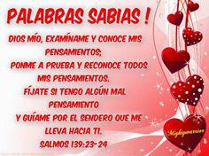 "JESUS PODEROSO GUERRERO: Salmos 139:23-24~~~ "" Palabras sabias """