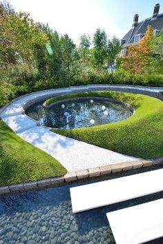 Huis Ten Bosch-3 Landscape Architecture, Landscape Design, Garden Design, Modern Landscaping, Garden Landscaping, Luoyang, Pond Water Features, Sunken Garden, Pond Life