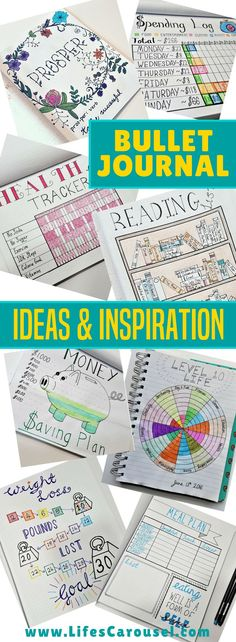 Bullet Journal Inspiration | Ideas for your BuJo - spreads, layouts, trackers and more! Everything from how to start a bullet journal to ideas for trackers and spreads. The ultimate planner collection!