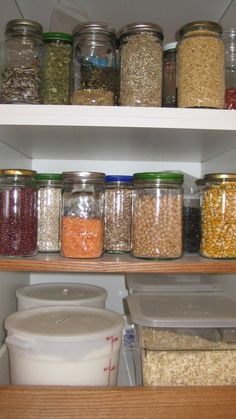 stocking pantry beans rice, grains popcorn pasta flour sweetners etc