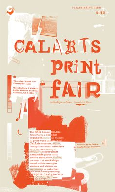 Mina Shoaib andMonique Wilmoth (California)CalArts Print Fair Poster, 2015
