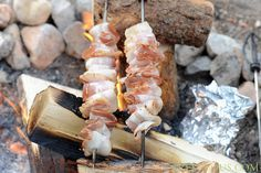 Use skewers and bacon strips to make this tasty snack.  Get the recipe at Zestuous.   - CountryLiving.com