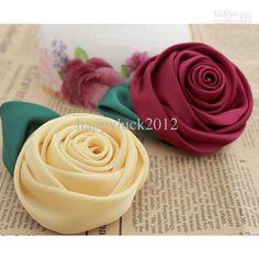 Diy silk satin rose