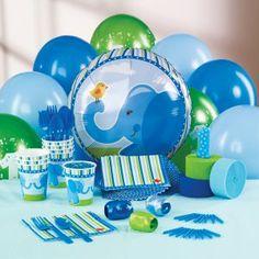 Blue Elephants 1st Birthday Personalized Party Theme