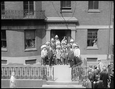 Real American Indians call on Bishop Slattery at Beacon Hill Residence | Creator/Contributor: Jones, Leslie, 1886-1967 (photographer) Date created: 1928