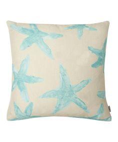 Look what I found on #zulily! Aqua Starfish Pillow by THRO #zulilyfinds