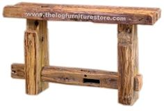 These reclaimed pine barnwood Sofa Tables are hand-crafted using boards reclaimed when dismantling year old tobacco barns Barnwood Doors, Barn Wood, Sofa Tables, Living Room Furniture, Entryway Tables, Pine, Home Decor, Pine Tree, Hall Furniture