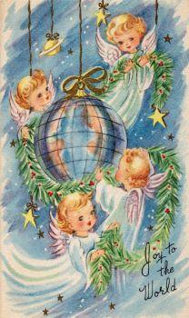 Risultato immagine per Vintage Christmas Angels Christmas Card Images, Vintage Christmas Images, Christmas Graphics, Old Christmas, Old Fashioned Christmas, Christmas Scenes, Christmas Paper, Retro Christmas, Christmas Greeting Cards