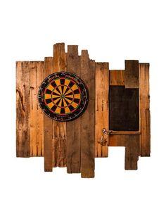 Handmade Reclaimed Wood Dartboard #LiquidGoldSalvagedWood
