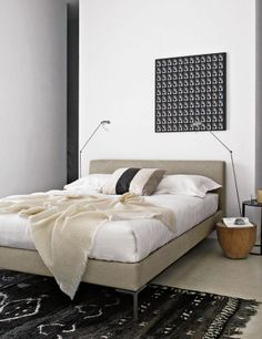 simple bed and bedding