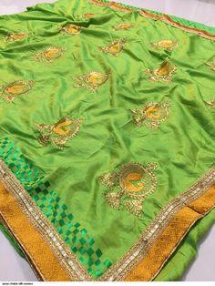 Designer Sana Chatai Silk Embroidered Saree with Brocade Lace Border Art Silk Sarees, Lace Border, Best Budget, Embroidered Silk, Saree Collection, Saree Wedding, Dresses Uk, Lehenga Choli, Designer Wear