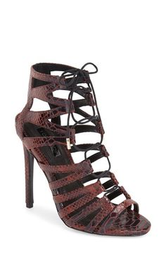 Topshop 'Rupa' Ghillie Sandal (Women) available at #Nordstrom