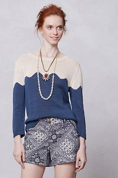 spring waves pullover / anthropologie