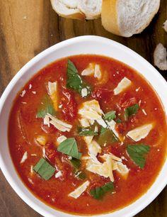Receita de creme de tomate com manjericão Receitas Light