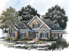 Colonial House Plan with 2150 Square Feet and 3 Bedrooms(s) from Dream Home Source | House Plan Code DHSW42618
