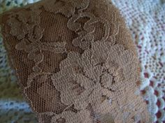 Vintage Lace Coffee and Cream Color Wide /Yards?/Sewing Supplies…