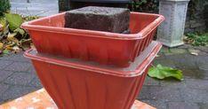 pots of cement, concrete or concrete Cement Flower Pots, Concrete Cement, Concrete Crafts, Concrete Projects, Concrete Garden, Concrete Planters, Diy Planters, Flower Planters, Planter Box Plans