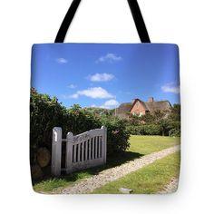 Sylt. Hut Tote Bag by Marina Usmanskaya #MarinaUsmanskayaFineArtPhotography #ArtForHome #FineArtPrints #Sylt #NorthSea