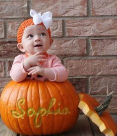 "<span class=""ff_lucida_sans fcolor_ffffff""><span class=""ff_comic_sans_ms fsize_20""><span class=""fsize_30"">I</span>'m all about pictures of babies in pumpkins ha. </span><br><span class=""ff_comic_sans_ms fsize_20"">I love this. </span><br><span class=""ff_comic_sans_ms fsize_20"">Do the kids names on it and take a picture of the kids and their pumpkins all together. </span><br><span class=""ff_comic_sans_ms fsize_20"">Do a Lane 8•1•2009 one too to put on the porch.</span></span>"
