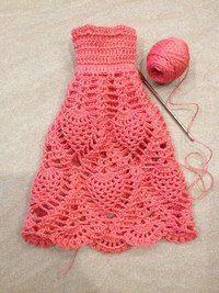 vestido para Barbie e outras bonecas de crochê.
