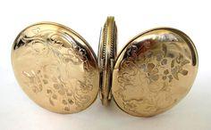 Reloj de bolsillo Elgin de oro antiguo caso de Hunter S12
