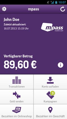 M-Pass wallet, Germany