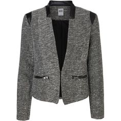 Vero Moda Long Sleeved Blazer ($43) ❤ liked on Polyvore featuring outerwear, jackets, blazers, long sleeve blazer, tall jackets, polyurethane jacket, glitter blazer and glitter jacket