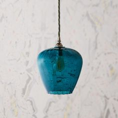 smaller lisboa pendant in turquoise glass with classic pendant light kit in antiqued silver Bronze Pendant Light, Glass Pendant Light, Glass Pendants, Pendant Lighting, Chandelier, Island Pendant Lights, Island Pendants, Amber Glass, Clear Glass