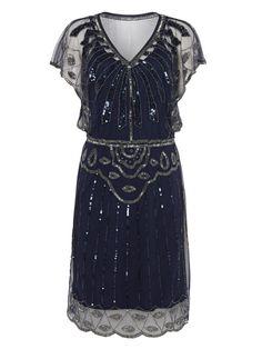 UK10 US6 AUS10 Navy Blue Vintage inspiriert 1920er von Gatsbylady