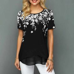 Женские Футболки — TOP GAME CLUB Stylish Tops For Girls, Trendy Tops For Women, Floral Print Shirt, Floral Prints, Trendy Fashion, Womens Fashion, Fashion Prints, Shirt Style, Floral Tops