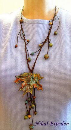 Fall Polymer Necklace