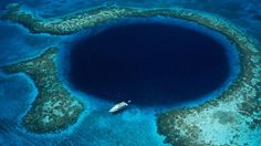 Great Blue Hole - Under this dark blue circle is a litany of underwater caves that have been there for ages!