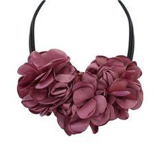 Terreau Kathy 4สีโบฮีเมียขนาดใหญ่ผ้ากุหลาบดอกไม้เค้นคอสร้อยคอผู้หญิงชี้แจงสร้อยคอวินเทจเครื่องประดับBKN801-N805