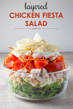 Planning ahead is easy with this layered salad recipe you can make up to 24 hours in advance.