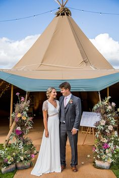 Hannah and John's Chilled Out Gloucestershire Tipi Wedding by Courtney Louise Photography Tipi Wedding, Wedding Blog, Wedding Dresses, Green Decoration, Different Shades Of Pink, White Balloons, Relaxing Day, Wedding Weekend, Couple Portraits