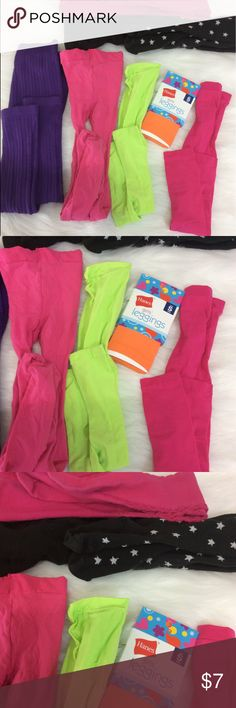 Girls bundle of tights Assortment of leggings and tights. Girls sizes S(6/7) -M(7/8). Some New never worn, some gently used. All good condition. Accessories Socks & Tights